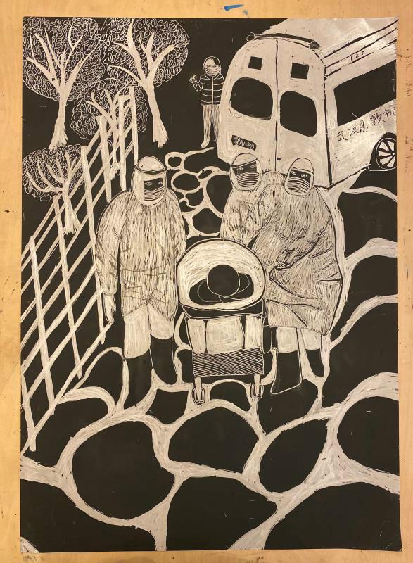 同力初心·艺以驱疫24期|武侯区抗疫专题美术创作展